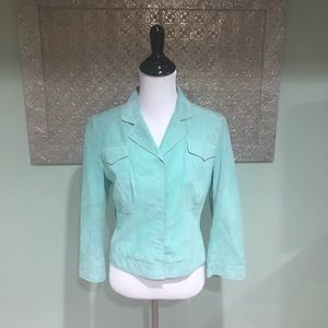 Elie Tahari Suede and Silk Jacket